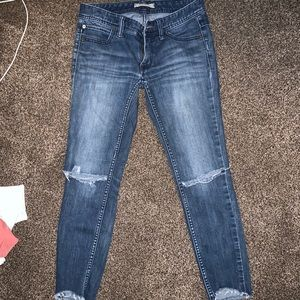 Free People Ripped Denim Jeans